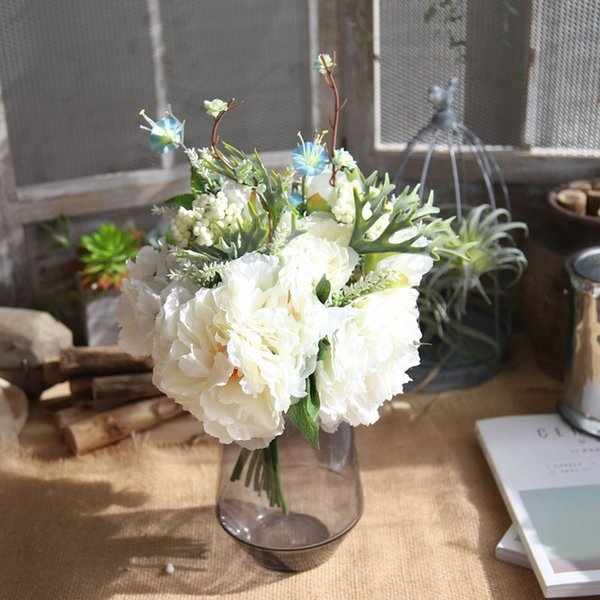 Bouquet Romantico Sposa.Acquista Bouquet Da Sposa In Stile Country Romantico Di Alta