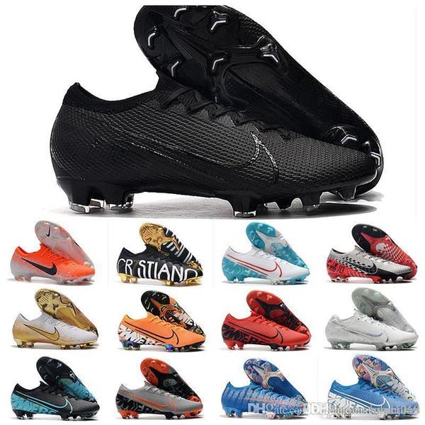 1 2019 erkek futbol krampon Superfly 7 Elite SE Neymar FG futbol ayakkabıları Mercurial Buharlar 13 Elite FG cr7 futbol botları Ronaldo açık