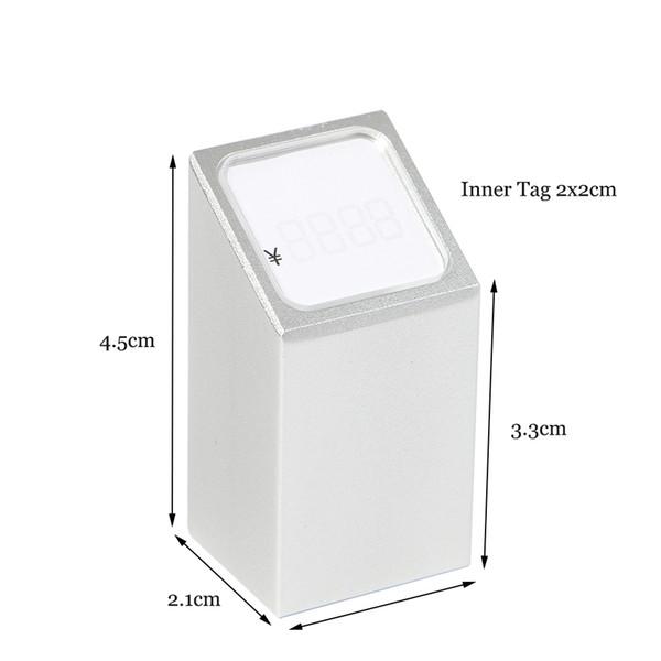 Exhibición de la etiqueta de precio de la joyería Número de bastidor Cubos Figura Número Soporte Soporte de la muestra del escritorio Estante de la mesa Hablador Bloque de metal Marco de aluminio Titular de la etiqueta