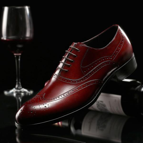 De Compre Hombres Genuino Primavera Zapatos Vestir Nuevos Cuero wz6pHa