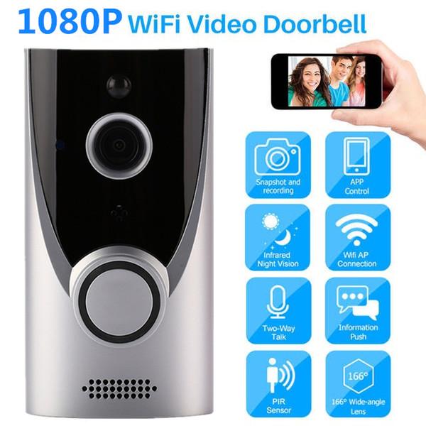 Vikewe M16 Video Timbre Inteligente Inalámbrico WiFi Seguridad Timbre de la puerta Grabación visual Home Monitor Night Vision Intercom puerta teléfono coche dvr