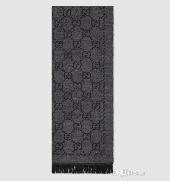 Frauen Jacquard Muster Gestrickter Schal Designer Männer Brief Fringe Kanten Wolle Schals Mode 48 * 180 cm Schal