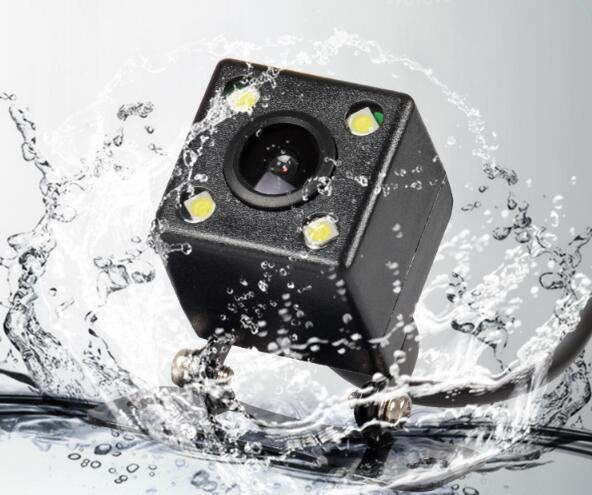 Wholesale Car Rear View Camera 4 LED Night Vision Reversing Auto Parking Monitor CCD Waterproof 170 Degree HD Video DHL Free Shipping