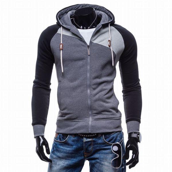 Men Sudaderas Hombre Hip Hop Mens Brand Leisure Zipper Jacket Hoodie Sweatshirt Slim Fit Men Hoody XXL Hot Sale