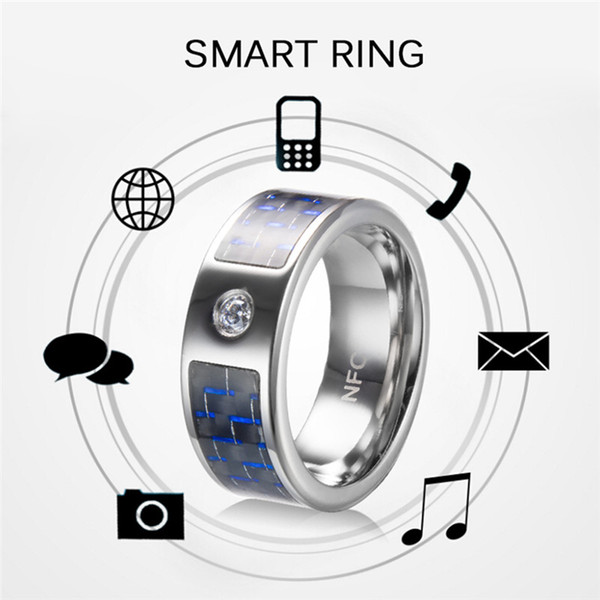 Smart Ring Wear R3 R3F Timer2 Blue Carbon Fiber Technology Titanium Magic Finger NFC Ring For Android Windows NFC Mobile Phone