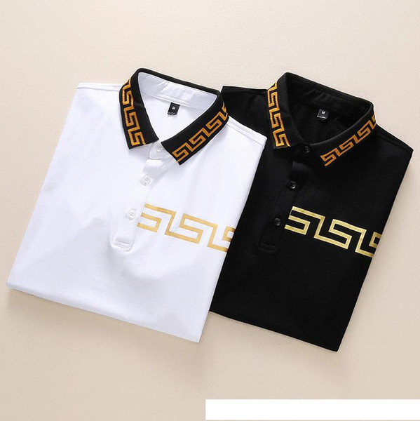 Mens Luxury Polo Shirts 2 Colors Short Sleeve Printed Summer T Shirt M-XXXL Turn Down Collar Designer Tops