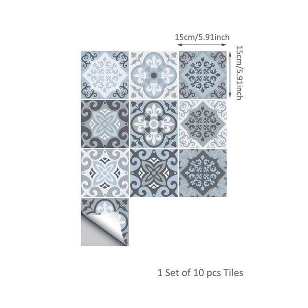 DIY Decoration Bathroom Kitchen Wall Room Floor Tile Sticker Mediterranean Style