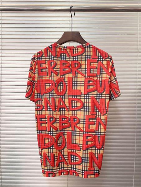 Летние дизайнерские футболки для мужчин модный бренд полосатые буквы печати красочные футболки мужские роскошные летние свободные тройники Азиатский размер S-3XL