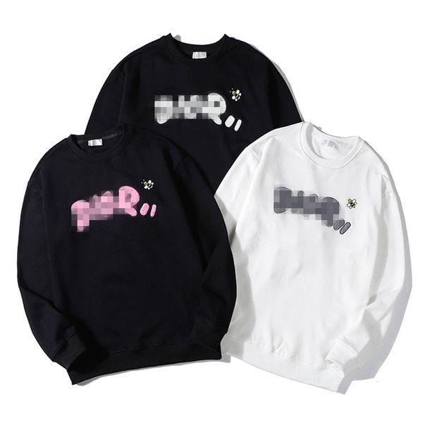 Luxury de igner brand men weat hirt weater big letter embroid long leeve hoodie pullover treet port ca ual fa hion hiphop b101038l, Black