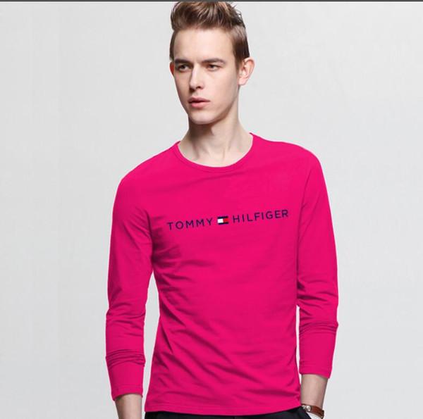 Популярная 19 летняя дизайнерская мужская рубашка с принтом и монохромной вышивкой Футболка мужская с длинными рукавами футболки топ s-6xl6xl