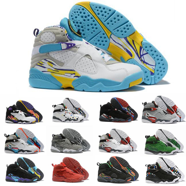 2019 Summer Reflective Bugs Bunny 8 8s Men Basketball Shoes Valentines Day Aqua SOUTH BEACH Chrome 3PEAT PLAYOFF Mens Trainer Brand Sneaker