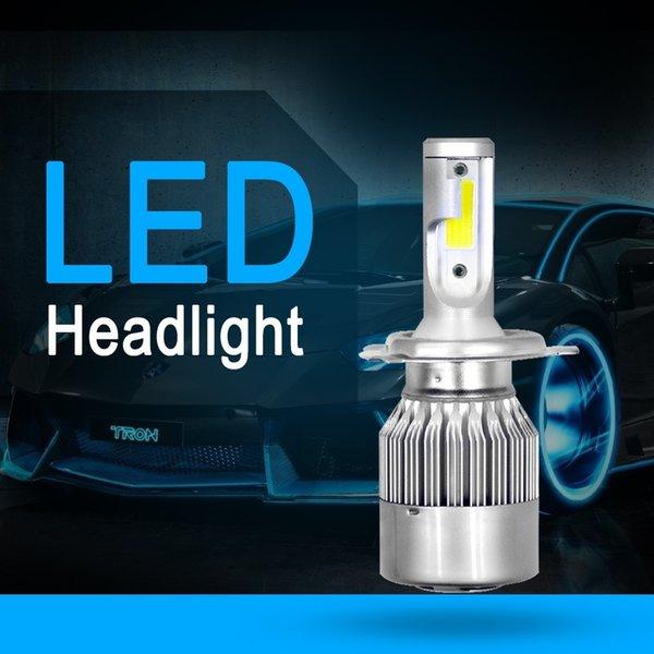 Front light1 Car LED Headlight Conversion Lamp Kit External Lamp Headlight Universal for Car LED Bulb Automatic White 6000k