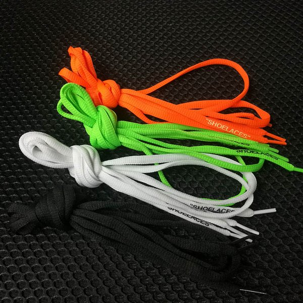 2018 OFF SHOELACES White Black Red Green Shoe Laces Zip Tie Tag C.2017 Part Accessories 1M With Red Zip Tag White Shoes