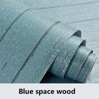 el espacio de madera azul-60cmX3m