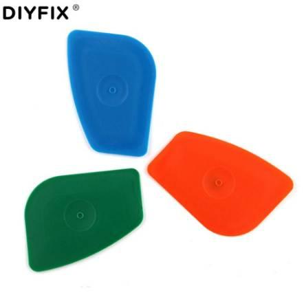 DIYFIX 5Pcs Cell Phone Opening Tool Handy Pry Card for iPhone Samsung Sony LCD Screen Back Housing Battery Disassemble Hand Tool
