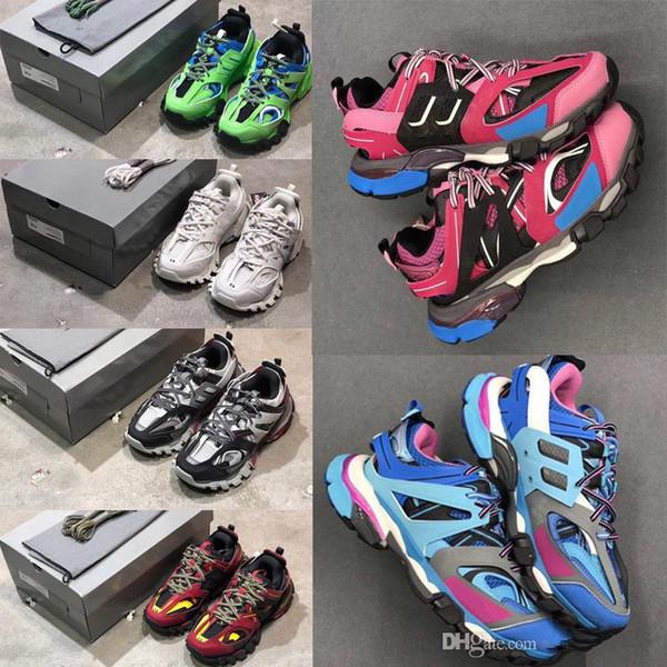 Luxury Designer Triple S 3.0 homme sneakers Casual femmes plate-forme extérieure Sneakers Tess S. Gomma Trek filet de nylon Mens piste Formateurs