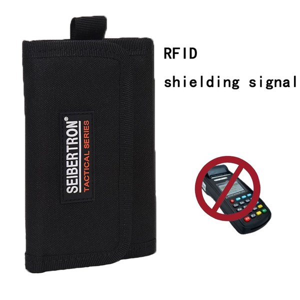 Seibertron Tactical Wallets Holders Coin Purses Money Clips Card y los titulares de identificación RFID Blocking Wallet Caza Bolsas Run Waterproof # 86711