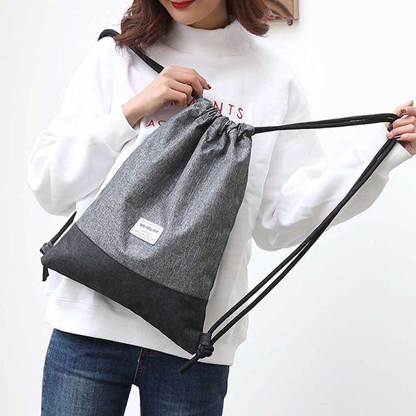 Kadınlar Plaj Çantası Açık Spor Spor Çanta Paketi Pocket Unisex İpli Sac Fe Dos Femme # C1