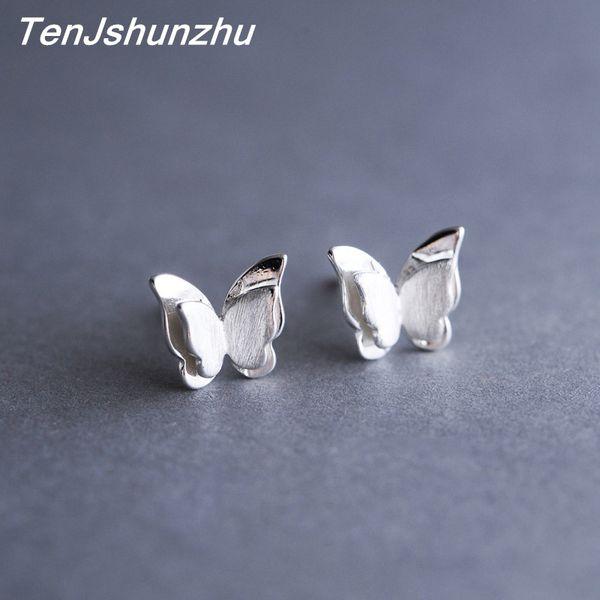 100% 925 Sterling Silver Prevent Allergy Butterfly Stud Earrings for Women Wedding Earrings Jewelry Accessories Brincos