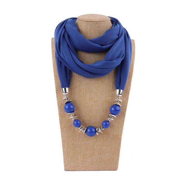 Jinjin.QC 2018 Fashion  Pendant Ring Scarf SHAWL Scarf Jewelry Necklace Ethnic Echarpe Foulard Femme Drop Shipping