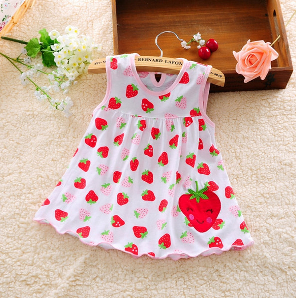 Baby Girls Dresses Embroidered Princess Dress Dot Infant Dresses Sleeveless Newborn Clothes Summer Kids Clothing 39 Designs DHW3076