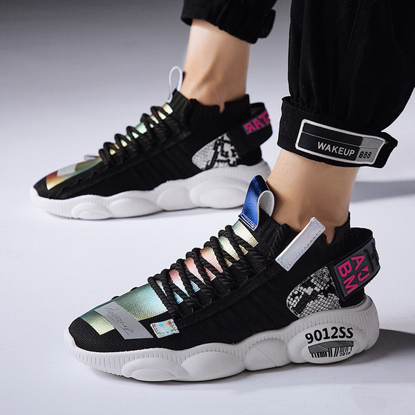 2019 very good quality men shoes lightweight breathable walking sneakers tenis feminino zapatillas hombre - from $49.10