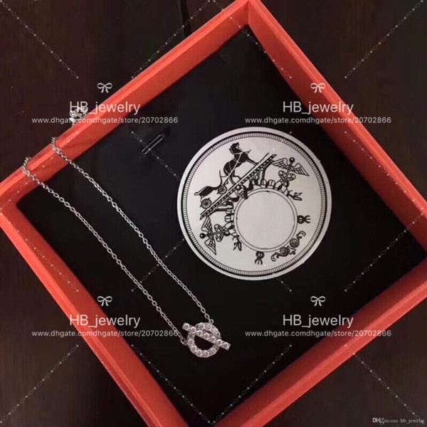 Popular fashion brand High version Hollow Necklace Ring for lady Design Women Party Wedding Lovers gift Luxury Jewelry With box