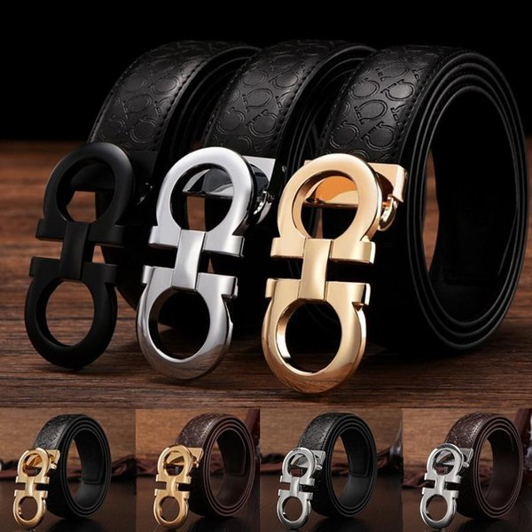 top popular Luxury Belts Designer Belts for Men Buckle Belt Male Chastity Belts Top Fashion Mens Leather Belt Wholesale Free Shipping 2019