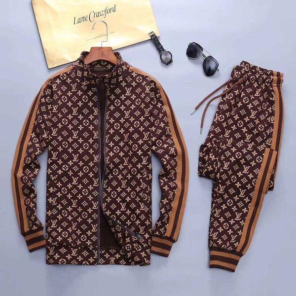qw668 / Спортивная куртка костюм мода работает спортивная одежда Медуза мужской спортивный костюм Письмо печати тонкий толстовка одежда спортивный костюм spor