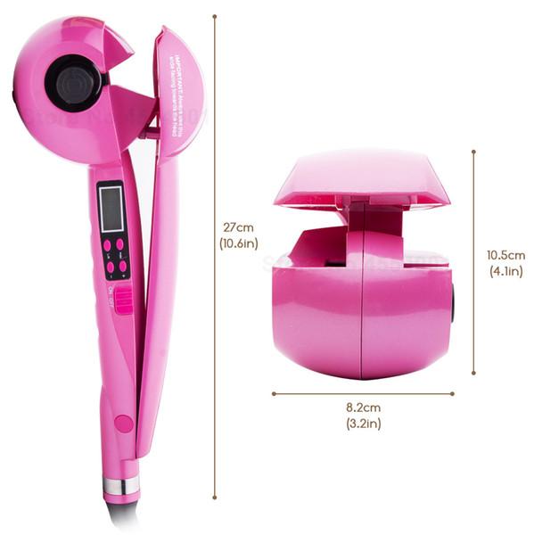2019 Nueva pantalla LCD Rizador de pelo automático de las mujeres de calefacción de onda de cerámica herramientas de peinado del cabello cuidado del cabello rizo magia rizador