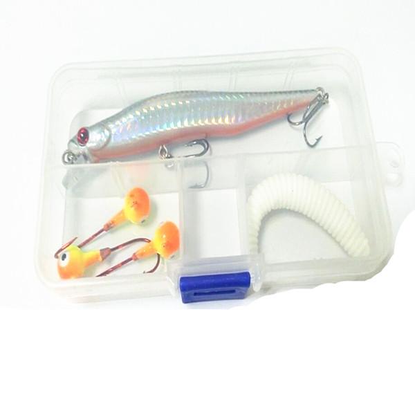 Conteneur appât pour accessoires de pêche 10 gri Boîtes de rangement Lure Crochet Appâts Light Case en plastique réglable Poids portable 1 1HJ F1