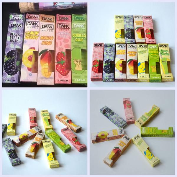 Dank Pacote 7 Flavors Dank Embalagem Saco Caixa Para G5 Vapes Cartucho Para 1.0 ml Bobina De Cerâmica Vape Carrinhos DHL Livre