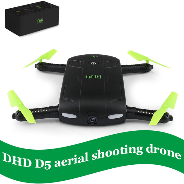 New Arrival DHD D5 Selfie FPV Mini Drone With HD Camera Foldable RC Pocket Drones Phone Control Quadcopter VS JJRC H37 523 Helicopter