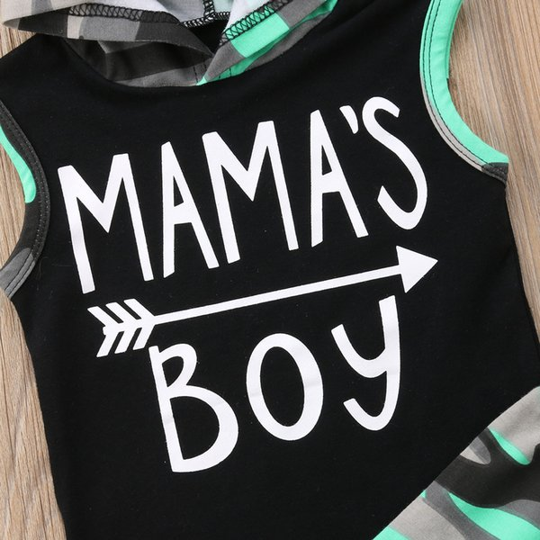2018 brand new toddler infant baby kids boys outfits sleeveless hoodie t-shirt pant pp shorts camo 2pcs set summer clothing thumbnail
