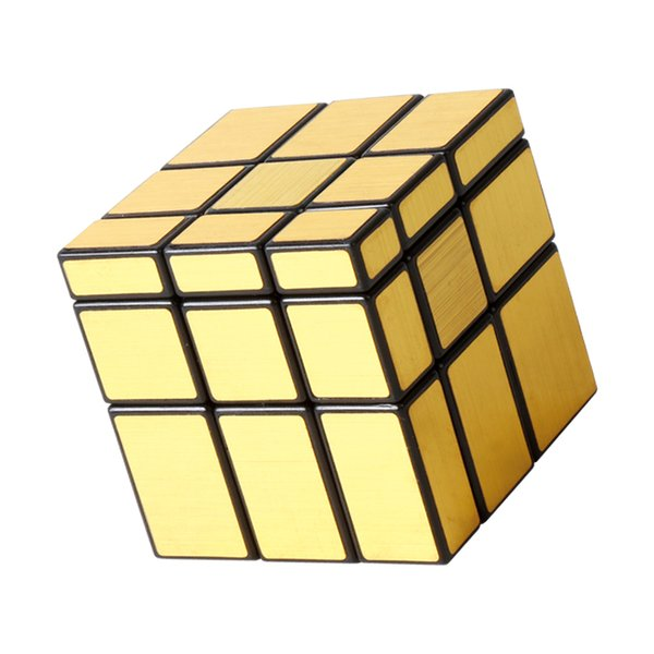 Gold Shaped Mirror Magic cube Children Puzzle Educational Toys Magics Cube Creative Gift 3rd order cube