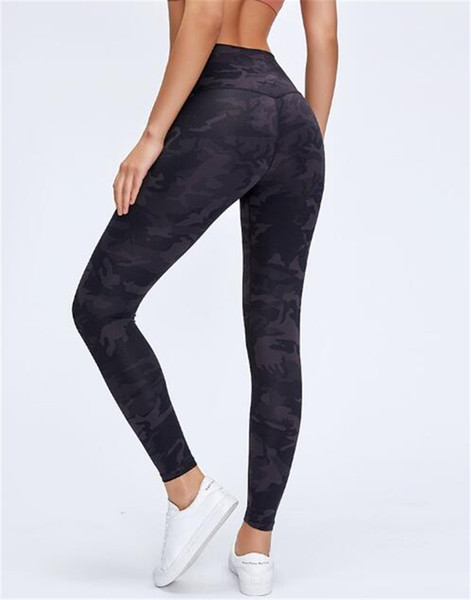 top popular 2020 High Quality Women yoga pants Sports Gym Clothing Leggings Elastic Fitness Lady Overall Full Tights Workout many colors 2020