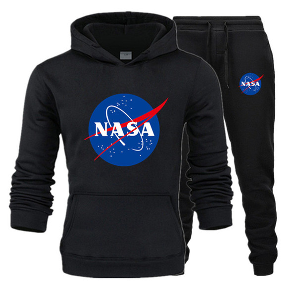 Fashion Designer NASA Tracksuit Spring Autumn Casual Unisex Brand Sportswear Mens Track Suits High Quality Hoodies Mens Clothing T2