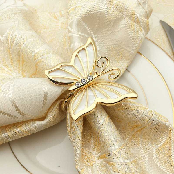 Napkin Rings Rhinestone Beautiful Set of 4 Clear Christmas New Year Wedding