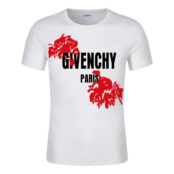 NOUVEAU Flower Mens Designer T-shirt Homme Femme de haute qualité à manches courtes Fashion Boy London Men Aigle CasualGivenchy T-shirts Impression