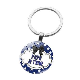 2019 fashion home life accessories teacher's day creative gift glass dome pendant multi-function key ring 8 styles can be mixed batch