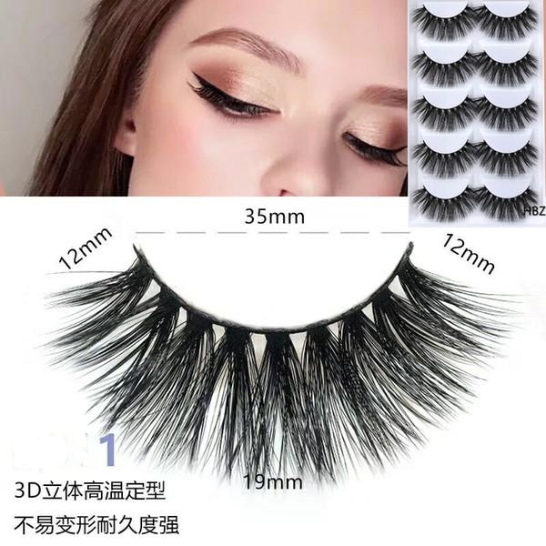 2018 NEW 1 box mink eyelashes natural long 3d mink lashes hand made false lashes plastic cotton stalk makeup false eyelash