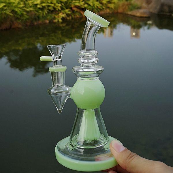 Heady Glass Bongs Pyramid Design Dab Huile Rigs Pomme De Douche Percolator Tuyau D'eau avec Tube De 14mm Bec Court XL275