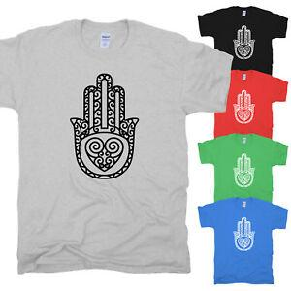 Mano de Fátima Hamsa Khamsa Henna Tattoo LuWholesale Symbol Heart LuWholesaley Camiseta S-XXL