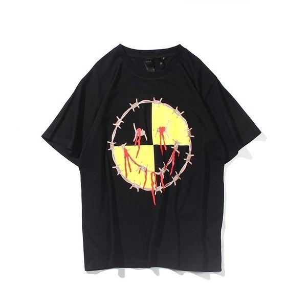 18SS Sıcak Satış Arkadaş Fvck Test Daha Hile Baskılı T-shirt Yaz Sokak Kaykay Nedensel Kısa Kollu Erkek Kadın Tee HFTTTX054