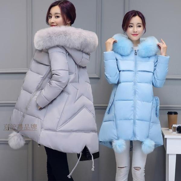 Escudo de maternidad de invierno larga con capucha Espesar abajo capa de la chaqueta de las mujeres embarazadas Embarazo ropa ocasional prendas de vestir exteriores más el tamaño S-5XL T191109