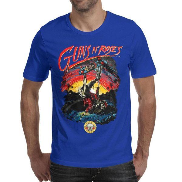 Guns N 'Roses Bullet с логотипом Мужские рубашки с рисунком Уникальная свободная футболка с коротким рукавом