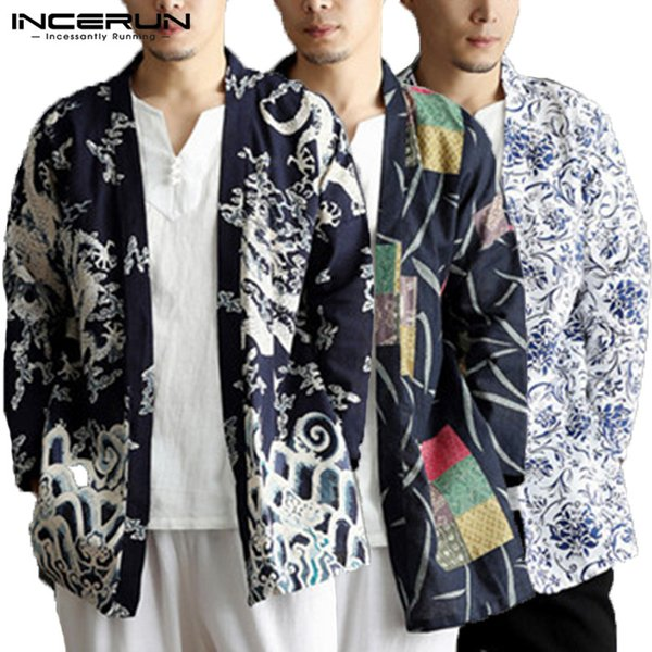 Brand Chinese Clothing Mens Cloak Trench Long Sleeve Tops Hiphop Cardigan Coats Fashion Coats 5XL Outwear Hombre Mantle Autumn