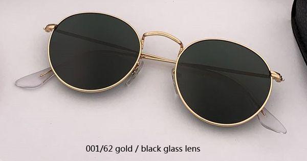 001/62 Gold / Schwarz Glaslinse