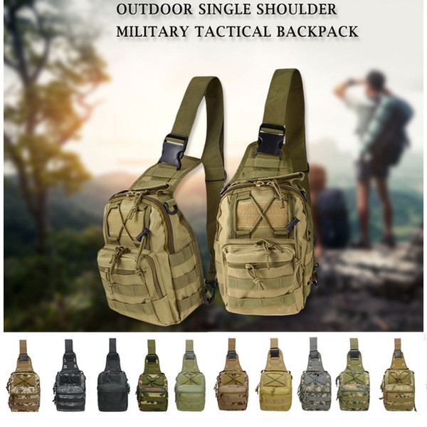 1000D Outdoor Tactical Shoulder Bag Camping Outdoor Sling Backpack Adventures Kit Sports Tool Sport Chest Pack