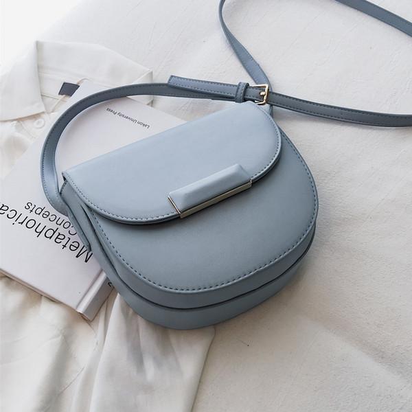 Mini Saddle Bag 2019 summer fashion new high quality PU leather Women's Designer Handbag simple Shoulder Messenger Bag Travel